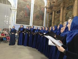 Выступление ансамбля «Нега» на хоровом фестивале